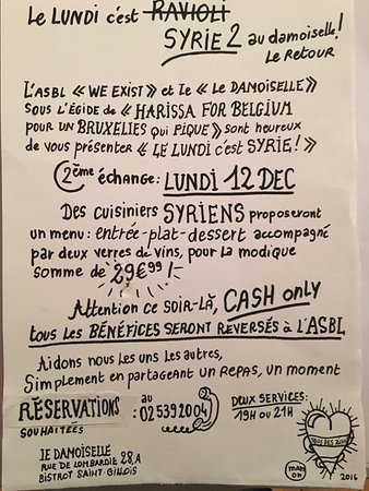 Saint-Gilles, Belgia:  le lundi c'est Syrie c'est un échange avec  une ASBL :We Exist: un échange culinaire, MIAM