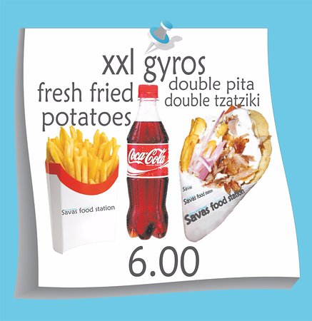 savas street food station xxl gyros menu