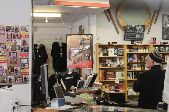 The Beat Museum: Entrance, part of book store & guy worth talking to.