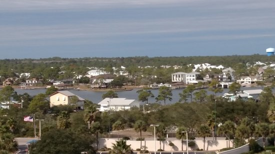 Perdido Beach Resort : We had angled ocean view and this is looking across the road in front of hotel.