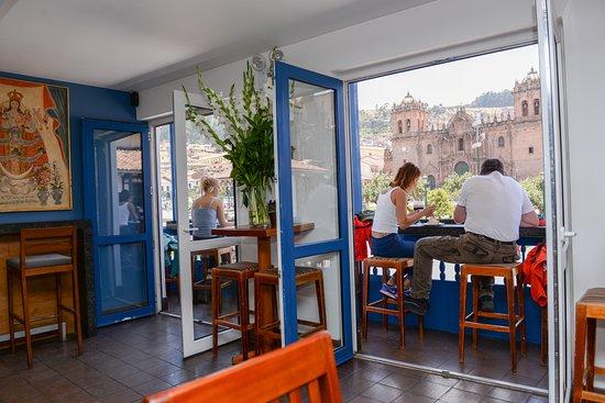 Plaza de Armas Cusco Hotel: Vista de nuestro restaurante