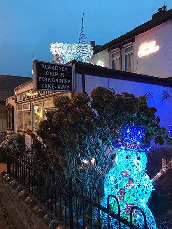 Blakeney, UK: Chip Inn in Winter
