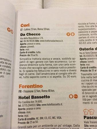 Cori, Itália: Trattoria da Checco