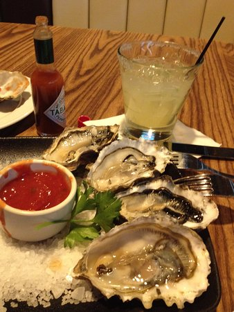 Roseville, CA: Oyster on the half shell & jalapeno margarita!