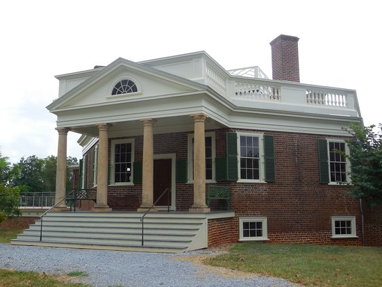 Mr Jefferson's Poplar Forest house entrance.