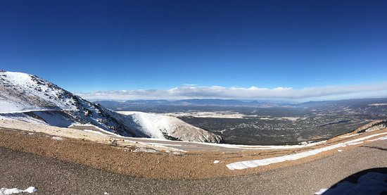 Fairplay, CO: Pikes Peak in early December -- breath taking the entire trip to the top and back down!!