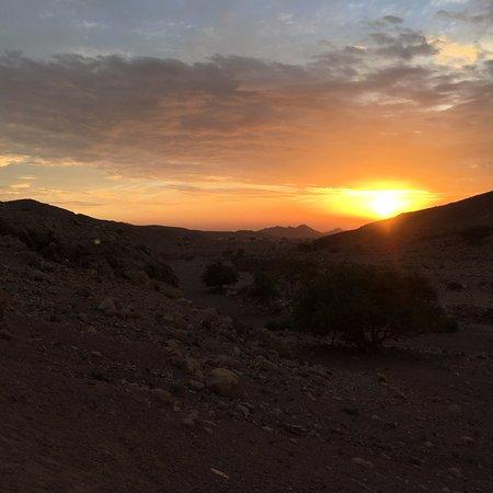 Dana, Jordan: Sunset near the lodge