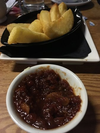 Kendal, UK: A tiny potion of chips for £3.60