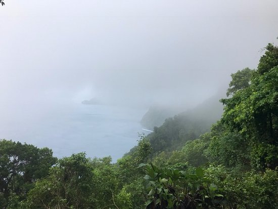Vieux Fort, St. Lucia: What would be Petit Piton if not cloudy