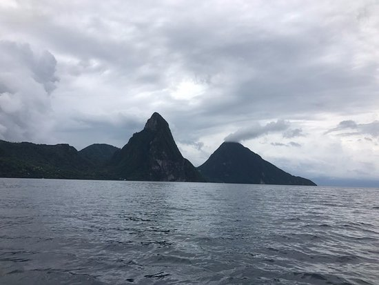 Vieux Fort, St. Lucia: The Pitons from first view