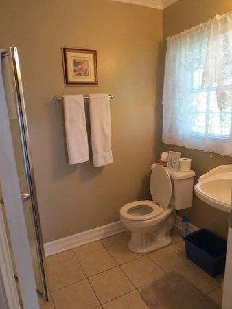 Accommodations Niagara Bed and Breakfast: River View ensuite with walk-in shower