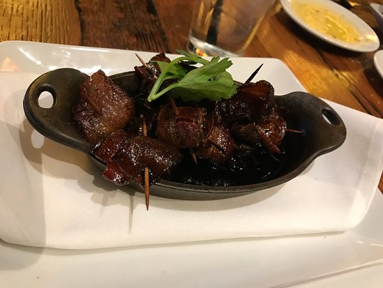 Carmel, IN: Bacon wrapped Dates - amazing!!