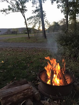 Jonestown, PA: enjoy a relaxing evening with a campfire.