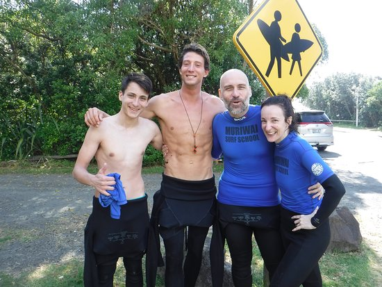Muriwai Beach, New Zealand: With our AWESOME instructor Jeremy!!!!