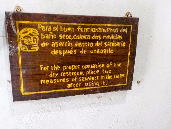 Bathroom Signs History bathroom signs on how to use the toilet - picture of punta laguna