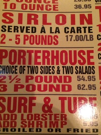Monroe, LA: Great menu !!!