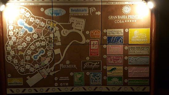 Coba Resort Map Picture of Grand Bahia Principe Coba Akumal