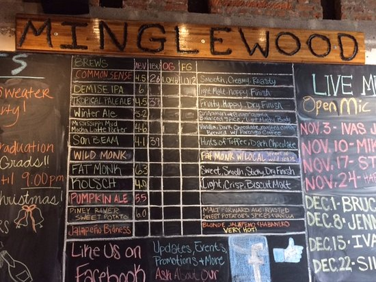 Cape Girardeau, MO: Minglewood beer list as of December 2016