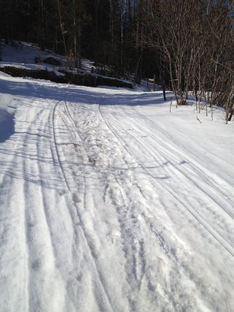 Lakeview Motel: Snow mobile trail