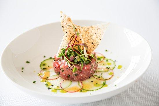 Pikesville, MD: Sushi grade Tuna Tartare at Citron features Avocado Tzatziki and Makrut Lime Vinaigrette