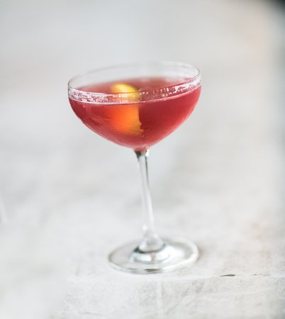 Pikesville, MD: Our Signature Citron Cosmopolitan features Housemade Cranberry Juice and Rhubarb Tea Liqueur