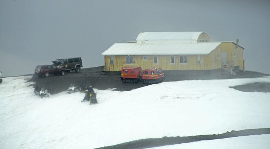 Hofn, Iceland: Hedquarters building 830 meters high. 40 minute ride from ground level.