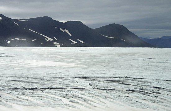 Hofn, Iceland: Cracks and crevasses on the Vatnajokull ice cap