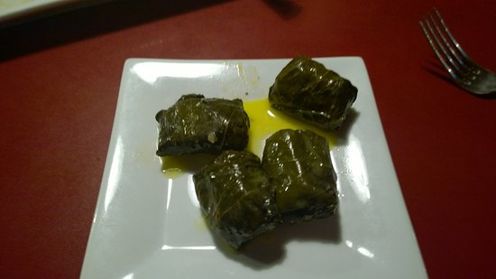 West Boylston, MA: Stuffed grape leaves