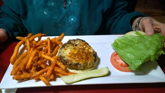 West Boylston, MA: Cajun burger and sweet potato fries