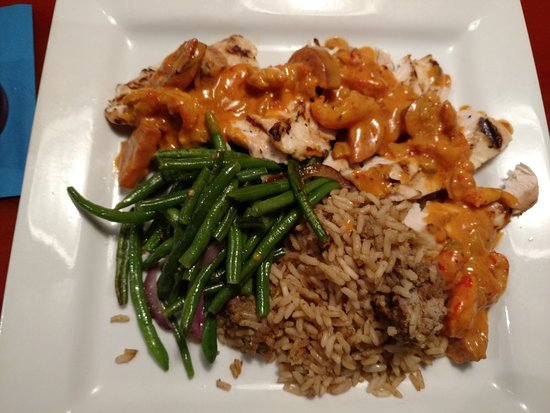 Willis, TX: mardi gras chicken with dirty rice