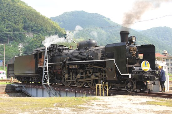 Tsuwano Station Railway Turntable