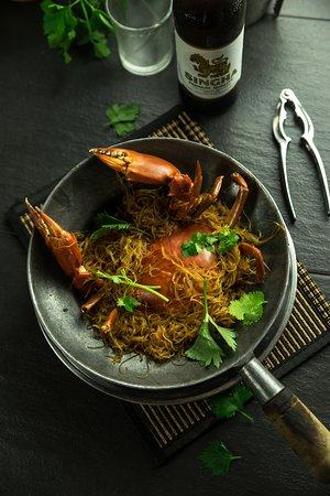 Sri Kembangan, Malaysia: Claypot Glass Vermicelli Crab