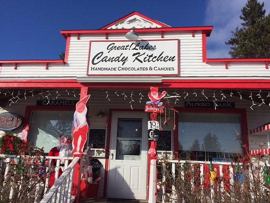 The Great Lakes Candy Kitchen, worth a drive up the scenic CR 61 in Knife River, Minnesota.