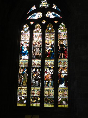 Church of the Holy Rude: Beautiful stained glass window