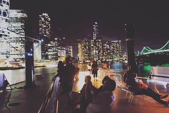 Lovely Kookaburra Showboat Cruises: Views From The Top   Rooftop Deck On City  Lights Dinner Cruise