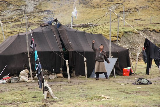 Khadak International Travel Services Tibetan nomad tent during Gaden to Samye trek & Tibetan nomad tent during Gaden to Samye trek - Picture of Khadak ...
