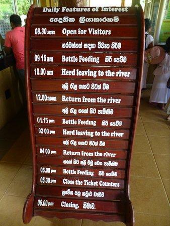Pinnawala, Sri Lanka: entrance sign