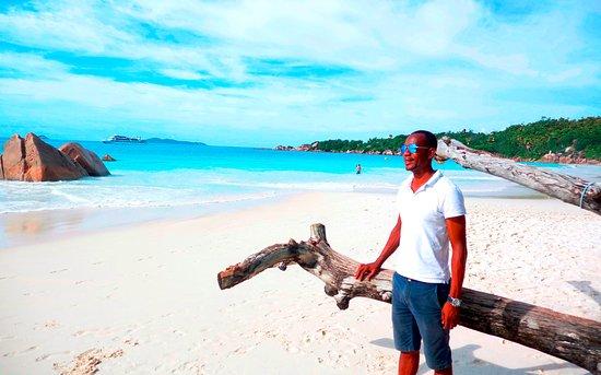 Dave at Anse Lazio - Picture of Dave\'s Tour, Praslin Island ...