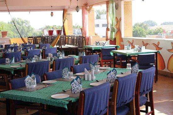 Hocus Pocus| Mystic Panorama Restaurant: setup with block printing theme