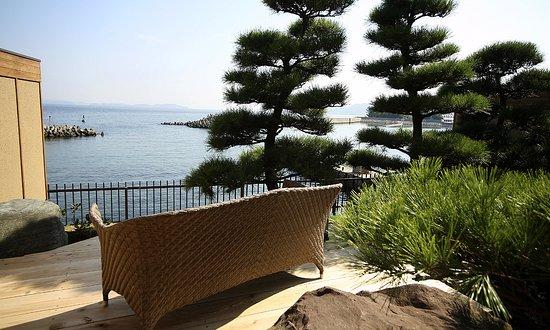 Sumoto, Japón: <ヴィラ楽園>海の庭・海楽 (テラス海側)