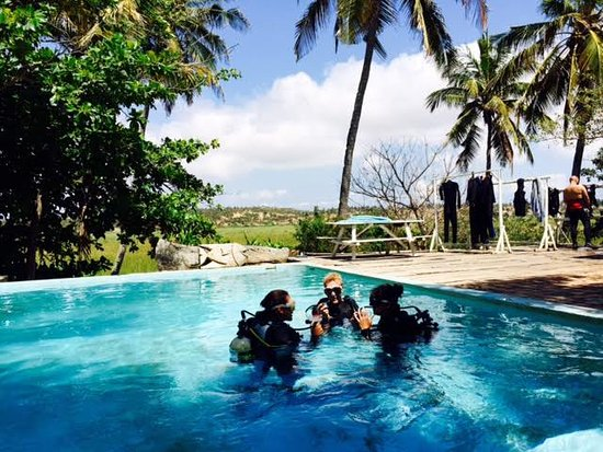 Tofo, Mozambique: Our pool