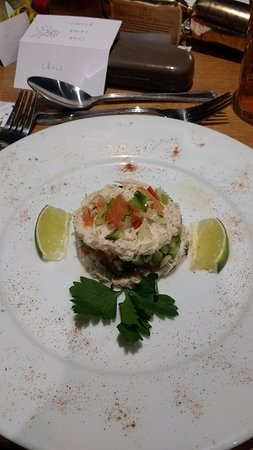 Tiverton, UK: Crab Stack Starter