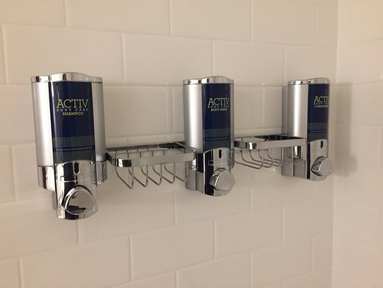 Revere, MA: Typical Four Points Soap Dispensers