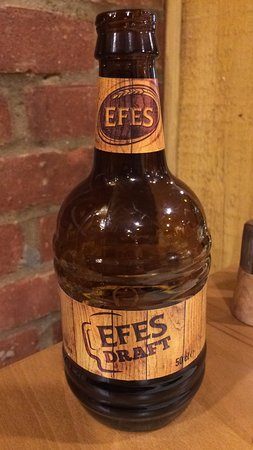 Stevenage, UK: Efes beer