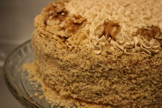 Gosport, UK: Cakes - Coffee & Walnut, Carrot Cake, Flap Jacks, Choc cake and more