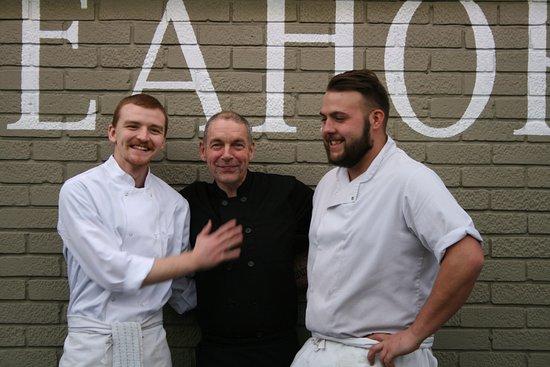 Gosport, UK: Drew, Dave and Elliott - our lovely, hard working chefs - our kitchen team