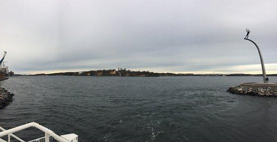 Nacka, Suède : la vue devant le restaurant