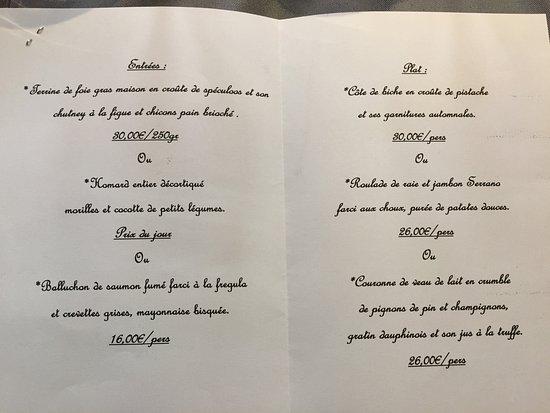 Nivelles, Bélgica: menu traiteur Noêl