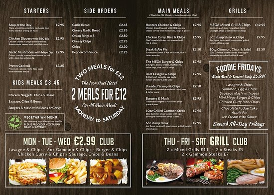 Tonypandy, UK: NEW MENU AS FROM OCTOBER 2016