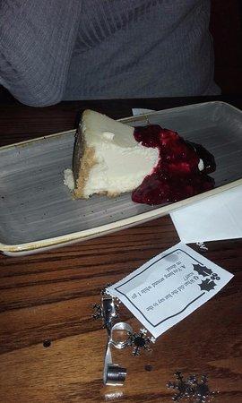 Crowborough, UK: Vanilla cheesecake